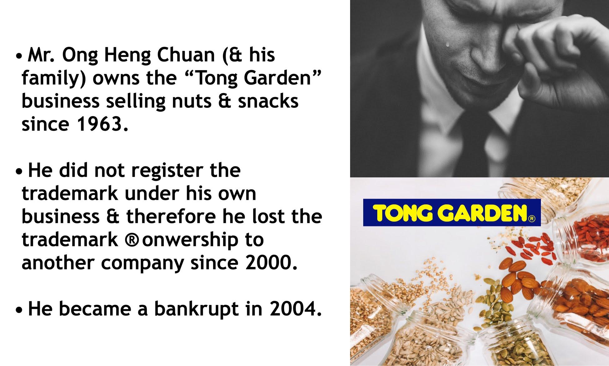 Tong Garden Owner Loses Trademark & Bankrupt